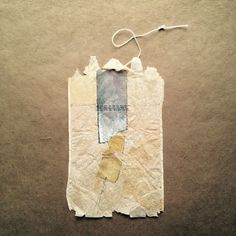 363 days of tea by silvierub. Day 71. recycled tea bag art