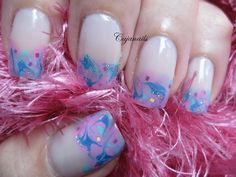 Nail art Simple spring marble