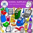 Back+to+School+{School+Supplies+with+faces}+Clip+Art  The+images+in+this+adorable+school+supplies+(with+faces)+clip+art+set+have+been+hand+drawn+an...