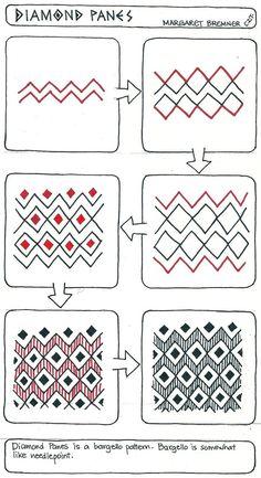 Artiste enthousiaste : DIAMOND volets tangle instructions 2101