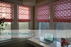 DIY Roman shades from existing blinds, with instructions