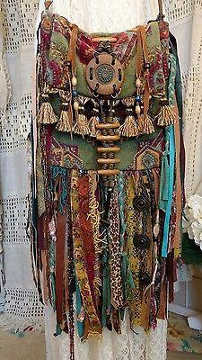 Handmade Ibiza Festival Fringe Cross Body Bag Hippie Boho Gypsy Purse tmyers