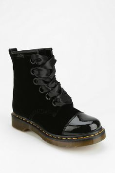 Dr. Martens Gracie Velvet Boot #urbanoutfitters