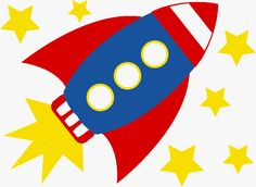 Rocket birthday party cut out