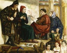 Giotto Painting The Portrait Of Dante 1852 Wood Print by Rossetti Dante Gabriel Dante Gabriel Rossetti, John Everett Millais, Dante Alighieri, William Morris, Renaissance, Edward Burne Jones, Pre Raphaelite, Victorian Art, Art Database