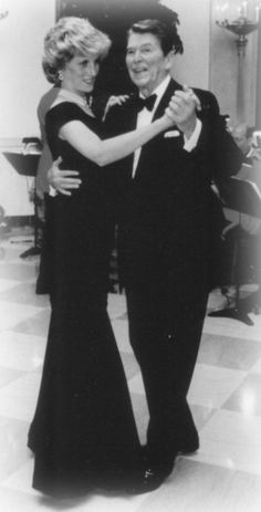 Image result for b & w photo of Diana dancing in the White House