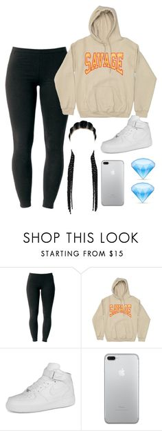 """""""Untitled #45"""" by its-me-maddie ❤ liked on Polyvore featuring Joe Browns, NIKE, nike and Leggings"""