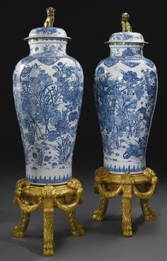 Chinoiserie, Art Chinois, Blue And White Vase, White Vases, Keramik Vase, Chinese Ceramics, Blue China, Qing Dynasty, Ginger Jars