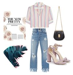 """""""IDK"""" by deselaunida on Polyvore featuring 3x1, JustFab, Solid & Striped, Chloé, Pink, CasualChic and fashionset"""