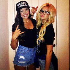 Wayne's world lesbian couple halloween costume