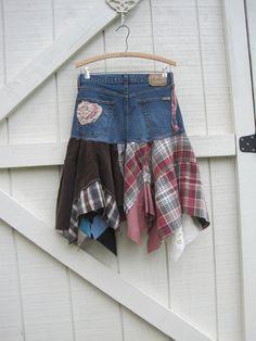 RESERVED.....Boho skirt CUSTOM ORDER for you...Rustic skirt