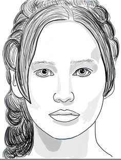 How to Draw Katniss Everdeen from The Hunger Games – aka Jennifer Lawrence