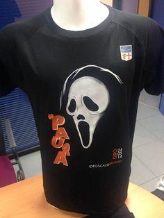 Non è bellissima questa maglia tecnica personalizzata prodotta per il Giro da Paura 2014?