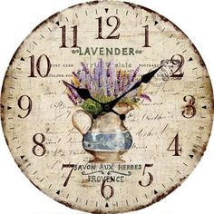 Vintage Wall Clocks Home Decor Decoration Large Retro European Style Room Round Wall Clock Hanging Clock Khaki -- See this great product. (This is an affiliate link) Hanging Clock, Wall Clock Online, Chalk Paint Projects, Rustic Wall Clocks, Decoupage Vintage, Grandfather Clock, Floral Wall, Wood Wall, Stencil