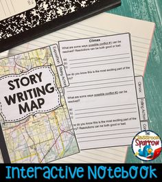 Follow the MAP and successfully write a short story from start to finish! Are you looking for a creative way to teach the elements of plot, as well as short story writing? This short story flip book is not only fun to complete, but also a convenient size that can be stored in a desk, binder or interactive notebook for quick reference when writing. High School Classroom, High School Students, English Classroom, Classroom Ideas, Interactive Writing Notebook, Interactive Notebooks, Teacher Lesson Plans, Free Lesson Plans, English Language