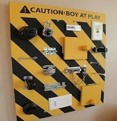 I pinned this Tool board for children just because it's adorable. #toolboards
