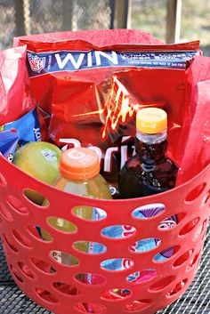 Birthday Gift Idea... THEMED GIFT BASKETS that are full of items related to the YEAR the individual was born... this  basket was a FOOD THEME full of food items that were made in the 60's for the gentleman born in the 60's