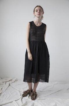 Yuli Linen Dress - Black