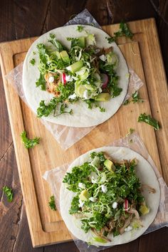 Slow Cooker Maple Pulled Pork Tacos with Kale and Brussels Slaw, an ...