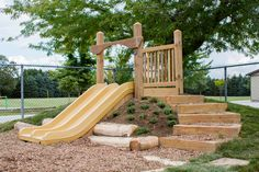 Naturspielplatz - Hill Slide by APE, - playground backyard Outdoor Play Spaces, Kids Outdoor Play, Backyard For Kids, Outdoor Fun, Natural Outdoor Playground, Backyard Ideas, Backyard Playground, Playground Ideas, Playground Slide