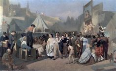 """Celebration in the outskirts of Paris (in Montmartre)"", 1864 by Vasily Perov (1834-1882, Russia)"