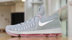 80e0c4282e4 Kevin Durant debuts new KD 9s in Game 3. Grey SneakersNike ...