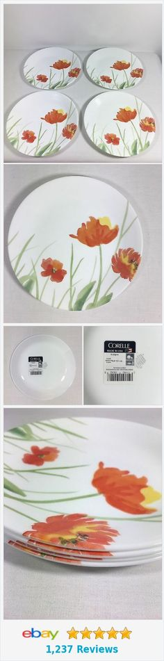 """Corelle Kalypso 8.5"""" Lunch Plate (Lot Set Of 4) Made In USA  