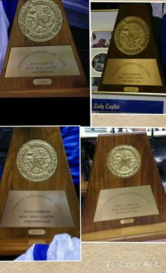 Boys State championship trophies  2001, 2005, 2006, 2012. My son was on the 2012 team