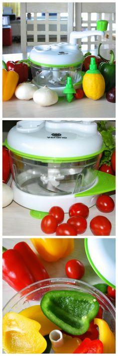 Verano® Universal Hand-Powered Food Chopper / Manual Food Processor is Perfect Onion Chopper / Salad Maker.