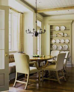 David Michael Miller design..love this over what looks like a radiator has built in a plate rack..doesn't take any extra floor space...great display and you can set the table easily!