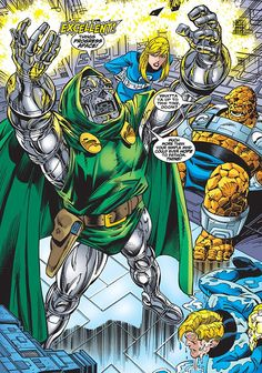 The Fantastic Four defeated by Doctor Doom!