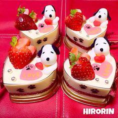 ひろりん's dish photo スヌーピーのバレンタイン レアチーズとホワイトチョコのムース♡