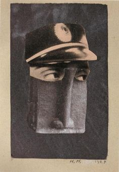 Hannah Höch, photomontage, From an EthnographicMuseum, 1924.