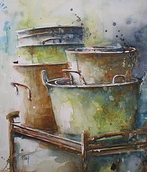 Artists 583216220464649983 - Mai… Aquarelles Plus Source by marianne_grobel Watercolor Landscape, Watercolour Painting, Watercolor Flowers, Watercolors, Watercolor Artists, Watercolor Techniques, Painting Techniques, Watercolour Tutorials, Watercolor Pictures