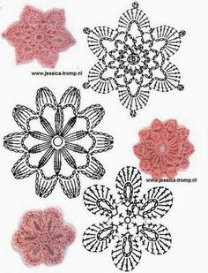 Best 12 the lilac space: crocheted flowers, free charts / Free crochet flowers patterns – Page 517562182162658016 – SkillOfKing. Crochet Motifs, Crochet Flower Patterns, Crochet Diagram, Crochet Chart, Crochet Squares, Crochet Designs, Crochet Doilies, Crochet Stitches, Knit Crochet