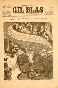 1896 Gil Blas vintage magazine cover