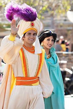 aladdin and jasmine at disneyland up for grabs :) comment if you want to be them