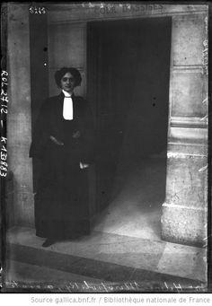 Maître Hélène Miropolsky, avocate aux assises, première femme ayant plaidé / Photographie de presse / Agence Rol (1908)