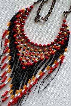 Native American style tribal fringed por MontanaTreasuresbyMJ
