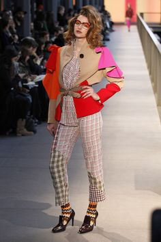#ManuelBolaño  #catwalk #080BarcelonaFashion #FW2014/15 #trends #geometricPrint #red #tartan #kitsch #in