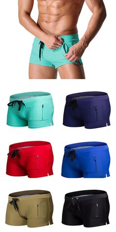 US$16.99 + Free shipping. Men's shorts, solid color shorts, beach swimming shorts, zipper pocket shorts, casual Trunks.Color: lake blue, dark blue, black, red, khaki.