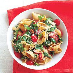 Guy Fieri's Spinach-Tomato Pasta Shells