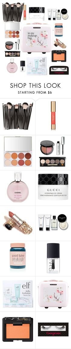 """""""Untitled #206"""" by jesica-d-psc ❤ liked on Polyvore featuring beauty, Estée Lauder, Bobbi Brown Cosmetics, Chanel, Gucci, Lime Crime, NARS Cosmetics, e.l.f., Ted Baker and Gorgeous Cosmetics"""