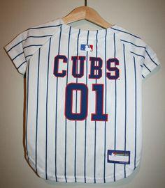 9b48ca44614 PETS FIRST Genuine Merchandise Chicago Cubs Dog Baseball Jersey Medium M 25  Lbs  Ad Chicago