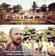 Your sense of humour is an acquired taste - 15 Signs You're The Karl Pilkington Of Your Friend Group Karl Pilkington Quotes, What Makes You Laugh, Rick Y, Your Spirit Animal, British Comedy, Celebration Quotes, Have A Laugh, Man Humor, Just For Laughs