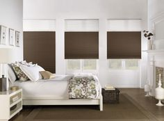 Bali Cellular Shades are available in an extensive selection of fabrics, allowing you to customize your window treatments. Honeycomb design provides energy efficiency and sound absorption of any window treatment. Cellular Blinds, Cellular Shades, Bedroom Windows, Blinds For Windows, Window Blinds, Bay Window, Bali Blinds, Blackout Shades, Honeycomb Shades