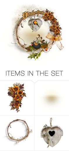 """""""Autumn Wreath for October 2016"""" by ragnh-mjos ❤ liked on Polyvore featuring art"""