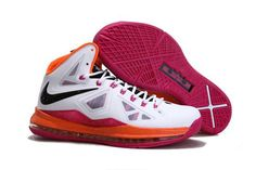 separation shoes e294e ba057 Nike LeBron 10   LeBron X Mens Basketball Shoe 541100 108  White-Red Black Orange im in love with these