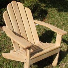 Cypress Adirondack Chair by Ruben Figueroa
