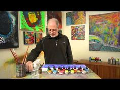 Michael Schaffer shares his unique, abstract style of painting that gives individuals of all ages the opportunity to be an artist. His abstract process allow. Alcohol Ink Painting, Alcohol Ink Art, Acrylic Painting Tutorials, Acrylic Art, How To Make Ink, Liquitex Acrylic Paint, Alcohol Ink Jewelry, Art Tutor, Step By Step Painting
